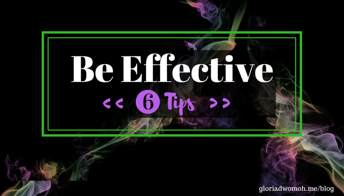 "Banner that writes ""Be effective"" - 6 Tips (For better technical talks)"